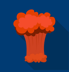 nuclear explosion icon in flat style isolated on vector image vector image