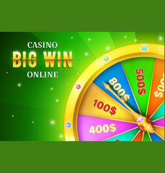 online casino background with spinning retro game vector image