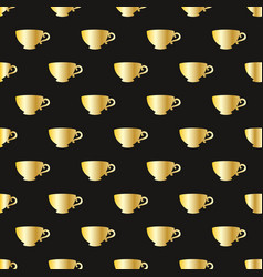 pattern with a gold cups vector image vector image