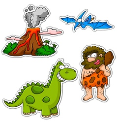 prehistoric cartoons vector image vector image