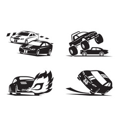 racing cars show vector image vector image
