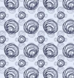 Scribbled circles big and small layered vector