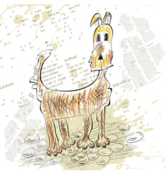 Sketch of dog vector