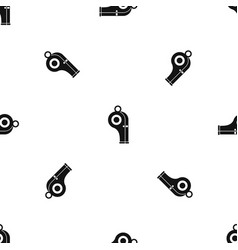 sport whistle pattern seamless black vector image vector image
