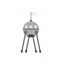 Sputnik flat icon vector