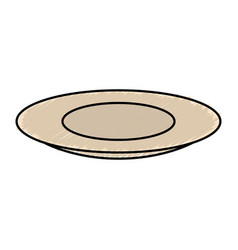Table dish isolated icon vector