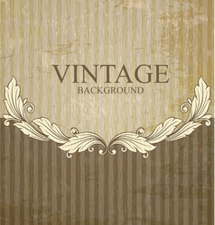 Vintage scroll vector image vector image