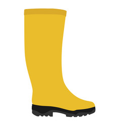 yellow rubber boots vector image vector image