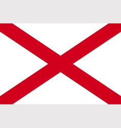 Alabaman state flag vector image