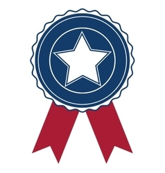 Isolated usa seal stamp and star design vector