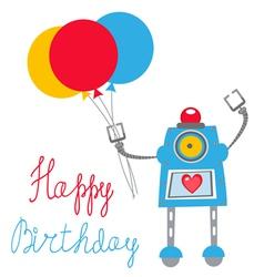 Robot birthday vector