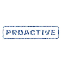 Proactive textile stamp vector