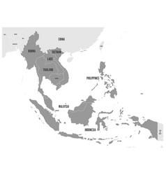 Asean economic community aec map grey map with vector