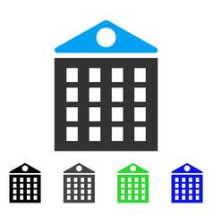 Multi-storey house flat icon vector
