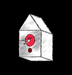 Flat shading style icon bird house vector