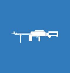 icon military heavy machine gun vector image