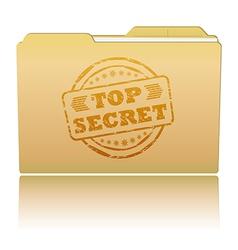 Top secret folder vector