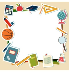 school supplies and tools with place for text vector image