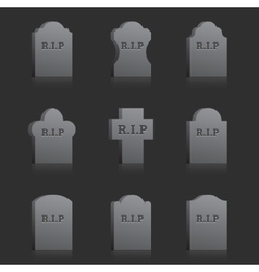 Gravestones with rip vector