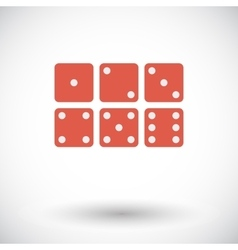 Craps icon vector