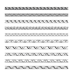 Hand drawn borders design elements vector