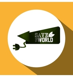 Save world design vector