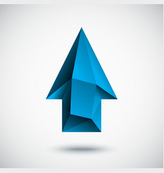 3d cyan up arrow with light background vector image