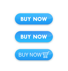 Buy now blue buttons for web design vector