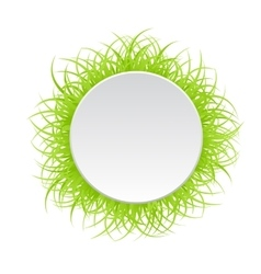 Circle frame with green grass vector