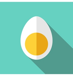 Egg cut in half vector image vector image