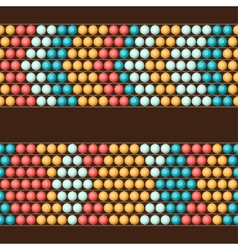 Ethnic african beads abstract color seamless vector image vector image