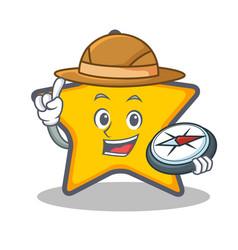 Explorer star character cartoon style vector