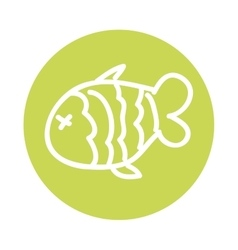 fish food meat icon vector image vector image