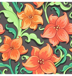 Flower pattern lily vector