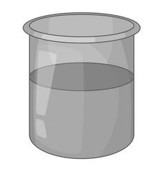 Glass jar icon monochrome vector