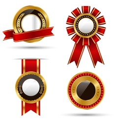 Golden Premium Quality Best Labels Collection vector image vector image