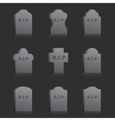 Gravestones with rip vector