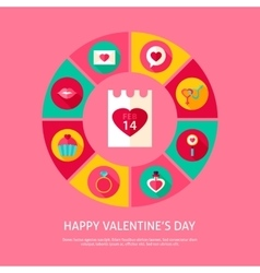 Happy valentines day concept vector