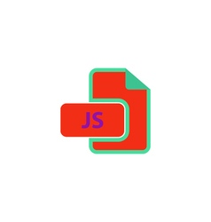 JS Icon vector image