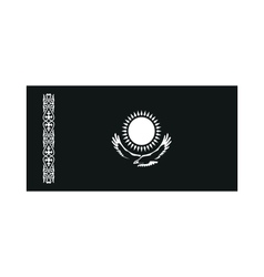 Kazakhstan flag monochrome on white background vector