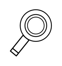 Line magnifying glass to exploration and search of vector