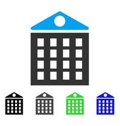 Multi-storey house flat icon vector