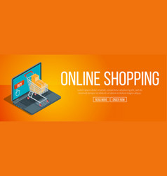 online shopping banner vector image vector image