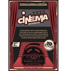 Red Carpet Cinema Poster vector image