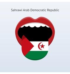 Sahrawi Arab Democratic Republic language vector image