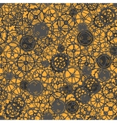 Seamless rusty cogwheel pattern vector