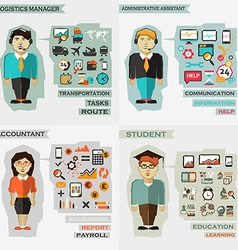 Set of professions Logistics manager vector image vector image