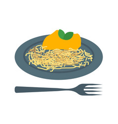 spaghetti bolognese vector image vector image