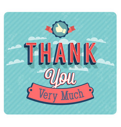 Thank you very much vintage emblem vector