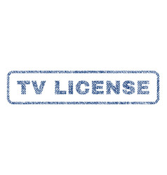 Tv license textile stamp vector